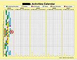 Calendar showing marked decrease in activities after injury.