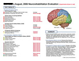 Illustration of amicus,medical,chart,neuropsychological,neurorehabilitation,evaluuation,deficits,impairments