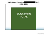 Combined earnings of defense expert over past few years.